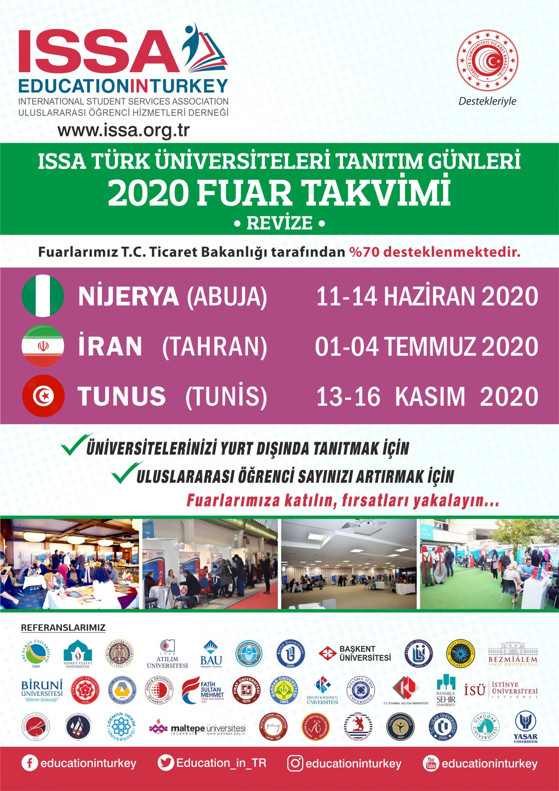 ISSA 2020 FUAR TARİHLERİ REVİZE OLDU